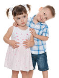 Two small fashion children together Stock Image
