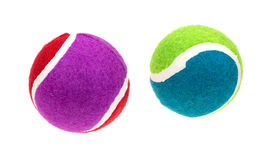 Two Small Fetch Balls Top View Stock Photos