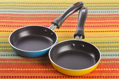 Two Small Frying Pans #1 Royalty Free Stock Photo