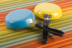 Two Small Frying Pans #2 Royalty Free Stock Image