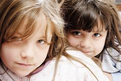 two small girls Royalty Free Stock Photos