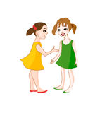 Two small girls talking Royalty Free Stock Photos