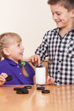 Two small kids Stock Photo