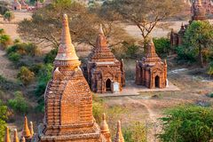 Two small pagodas Royalty Free Stock Photos