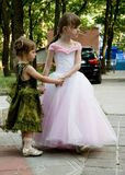 Two small sisters Royalty Free Stock Photo