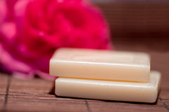 Two small soap Stock Images