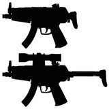 Two small submachine guns Stock Images