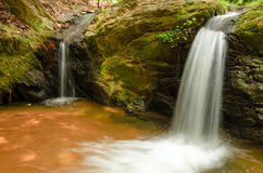 Two Small Waterfalls Stock Photography