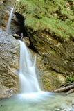 Two small waterfalls. You can see natural interesting phenomenon on the river royalty free stock photography
