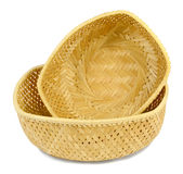 Two small wicker baskets Royalty Free Stock Photo
