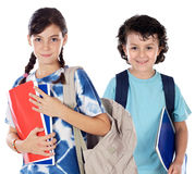 Two smalls students Stock Photography
