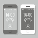 Two smartphone  - black and white Stock Photography