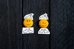 Two smile face. Stock Photography