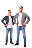 Two smile young business men Royalty Free Stock Image