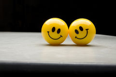 Two Smiley Faces Stock Photography