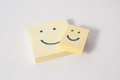 Two smiley post it Stock Photography