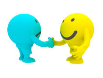 Two smiley's stock image