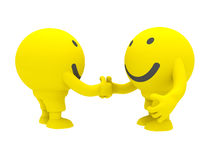 Two smiley's Royalty Free Stock Image