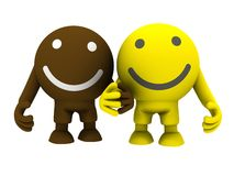 Two smileys Stock Image