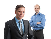 Two smiling businessmen Royalty Free Stock Photos