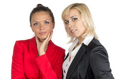 Two smiling businesswoman looking at camera Royalty Free Stock Photo
