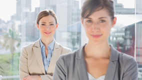 Two smiling businesswomen looking at camera Royalty Free Stock Photo