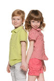 Two smiling children Stock Photography