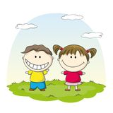 Two smiling children Royalty Free Stock Image