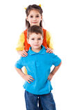 Two smiling children standing together Royalty Free Stock Photography