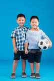 Two smiling Chinese boys Royalty Free Stock Image
