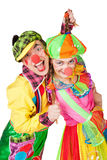 Two smiling clowns Royalty Free Stock Photo
