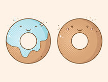 Two smiling donuts Stock Image