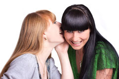 Two smiling girl-friends Stock Photos