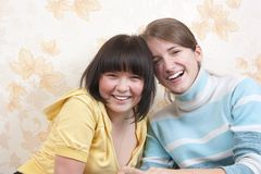 Two smiling girls Royalty Free Stock Image