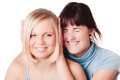Two smiling girls Royalty Free Stock Image