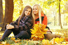 Two smiling girls, tinted Stock Photography