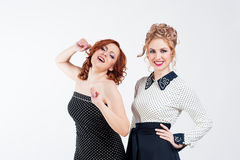 Two smiling girls Stock Photography