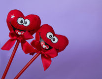Two smiling hearts . Royalty Free Stock Photo