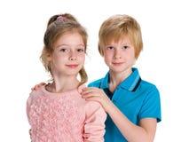 Two smiling kids Stock Photos