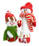 Two smiling snow man Royalty Free Stock Image