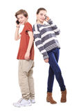 Two smiling teenager royalty free stock image