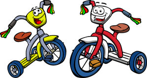 Two smiling tricycle Stock Photography