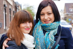 Two smiling woman Royalty Free Stock Image
