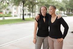 Two smiling women Royalty Free Stock Photo