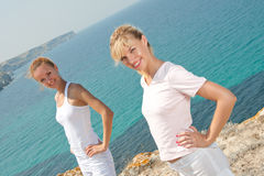 Two smiling women Stock Photo