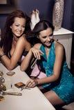 Two smiling women Stock Image