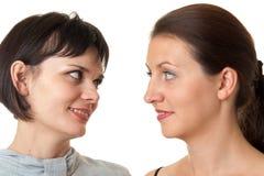 Two smiling women Stock Photos