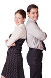 Two smilling business peoples Royalty Free Stock Image