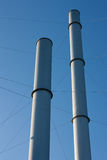 Two Smoke Stacks Royalty Free Stock Images