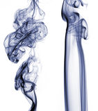 Two smoke trails Royalty Free Stock Images